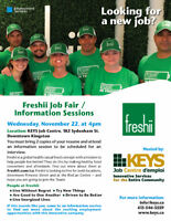 Freshii hiring for both locations