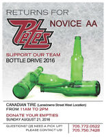 Novice AA Petes - Bottle Drive