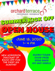 ORCHARD TERRACE Retirement Residence Summer Kick Off Open House
