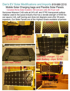 High efficiency ETFE Sunpower flexible and folding Solar panels