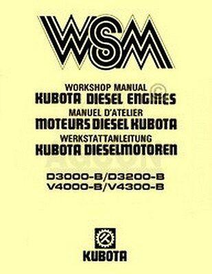 Kubota D3000 D3200 V4000 V4300 B Engine Workshop Manual