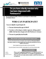 Do you have a relative diagnosed with Parkinson's?