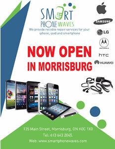 Now open in Morrisburg- Smartphone waves, repair & accessories