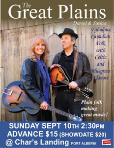 Concert with Saskia and Darrel. The Great Plains at Char's.