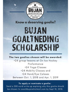 Know a Deserving Hockey Goalie?!