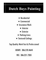 DUTCH BOYS PAINTING