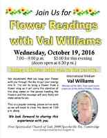 Flower readings with Val Williams