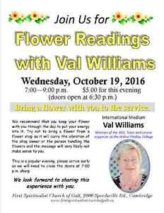 Flower readings with Val Williams Cambridge Kitchener Area image 1