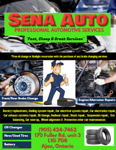 ***Winter Special @ SENA AUTO for all Automotive Services***