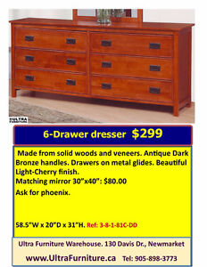 SOLID WOOD DRESSER & CHEST SAVINGS