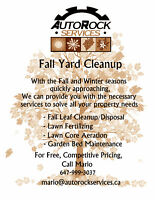 FALL YARD CLEANUP: MAINTENANCE, FERTILIZING, GARDENING