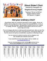 Shout Sister Choir Kingston is Welcoming New Members!