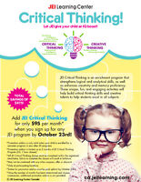Let JEI give your child an IQ Boost!!!! OCTOBERFEST PROMOTION