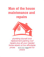 Man of the house maintenance and repairs