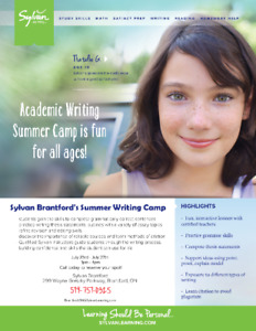 Sylvan Writing Camp!