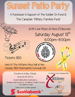 Sunset Patio Party - Fundraiser for Soldier On Charity