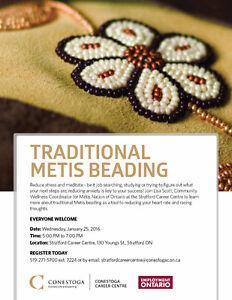Traditional Metis Beading Stratford Kitchener Area image 1