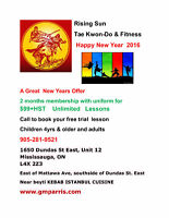 TAE KWON-DO LESSONS RISING SUN NEW YEARS OFFER