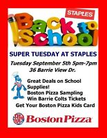 Super Tuesday at Staples