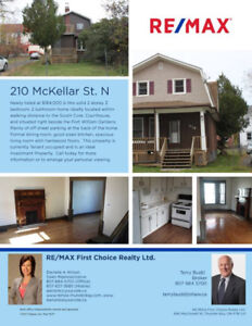 NEW LISTING: Solid 2 storey home with character