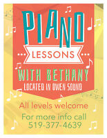 Piano Lessons for all levels