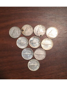 10 SILVER 80% CANADIAN DIMES