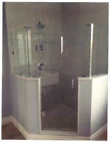 SHOWER GLASS DOORS&ENCLOSURES/RAILINGS/TABLETOPS/WINDOWS&MORE