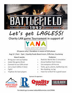 YANA WWII Charity Game Tournament 2017 - Let's get lagless!
