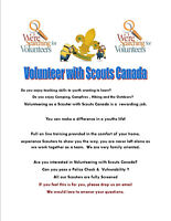 Volunteer with Scouts Canada as a Scouter