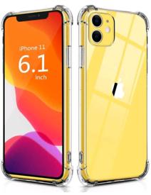 iPhone 11 Case 6.1 inch Silicone Shockproof Bumper Cover Anti-Scratch