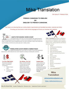 EXPERIENCED TRANSLATOR FROM MONTREAL (QUEBEC)