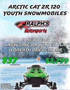 2016 ZR 120 Youth Snowmobile Just $2799 or $35 Bi-Weekly!