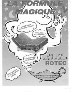 Lit électrique Rotec, avec matelas,  A DONNER