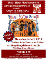 Shout Sister Fundraiser Concert to benefit County Kids Read