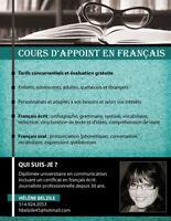 Cours en français privés (cours d'appoint)