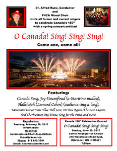 Forest Heights Community Association Mixed Choir registration Kitchener / Waterloo Kitchener Area image 1