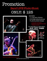 Live Band photography Fall Promotion from $125