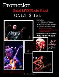 Live Band photography Fall Promotion from $125 Cornwall Ontario image 1