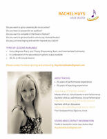 HUYS VOICE STUDIO: Private Singing Lessons