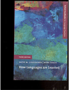 How Languages are Learned by Lightbown & Spada - Third Edition