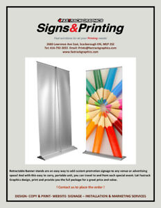 Fastrack Graphics - Roll Up / Retractable Bannerstand