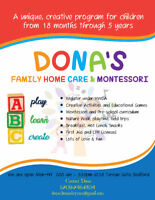Home Day Care in Bedford - Part time/ Casual Child Care