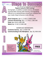 April Classes - Free Training for Adults