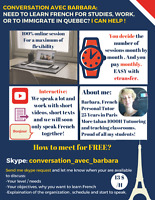 French Skype Conversation FREE 1st session / 13CAD/H