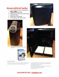 Bionaire HEPA Air Purifier North Shore Greater Vancouver Area image 4