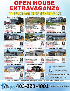 OPEN HOUSE EXTRAVAGANZA IN TABER