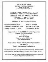 COME AND ENJOY THE HARVEST FESTIVAL FALL SALE