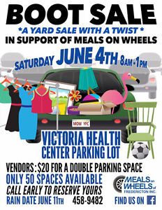 Boot Sale in Support of Meals on Wheels *yard sale with a twist*
