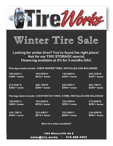 TIRE WORKS - NEW AND USED TIRES - SAME DAY INSTALLATION London Ontario image 2
