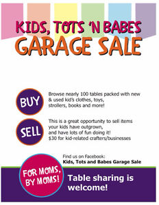 Kids, Tots 'N Babes Garage Sale